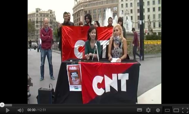 [BCN] CNT presenta en roda de premsa la vaga general del 31 d´octubre 2012