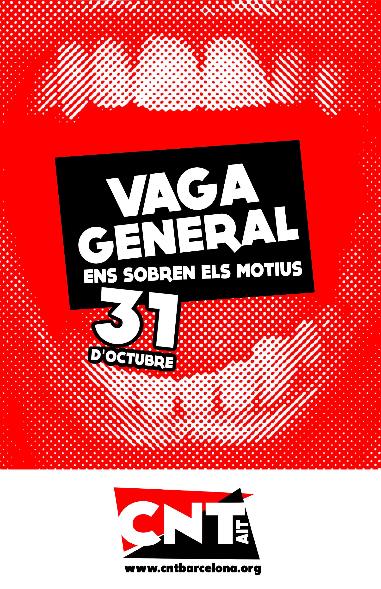 La CNT convoca vaga general a la ciutat de Barcelona el proper 31 d'octubre