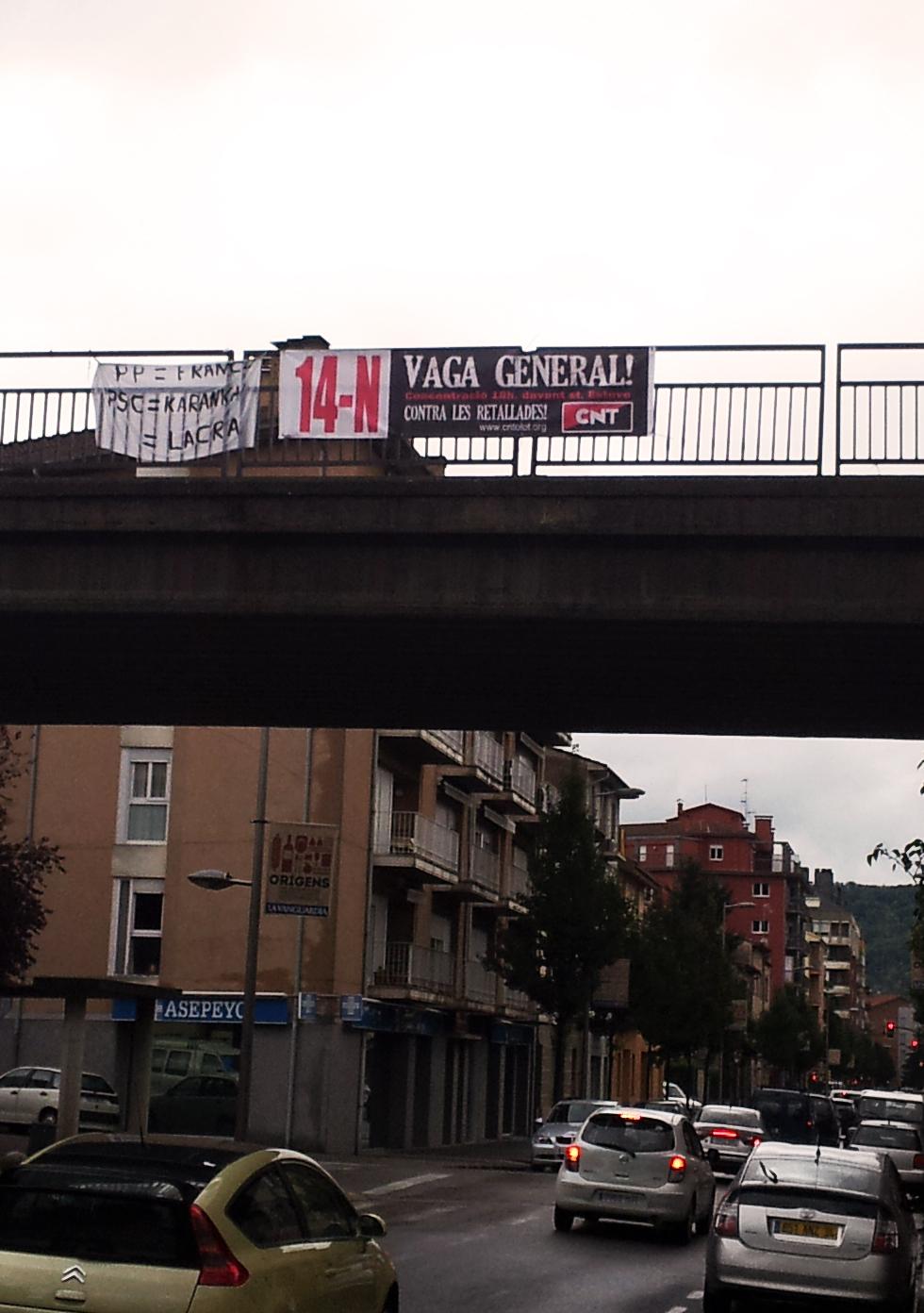 Comença la campanya de propaganda per la Vaga del 14N