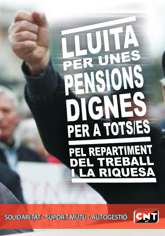 La CNT davant la nova reforma de les pensions