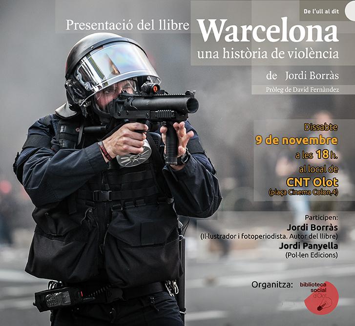 """Presentació del llibre """"Warcelona, una història de violència"""". 9 de novembre"""