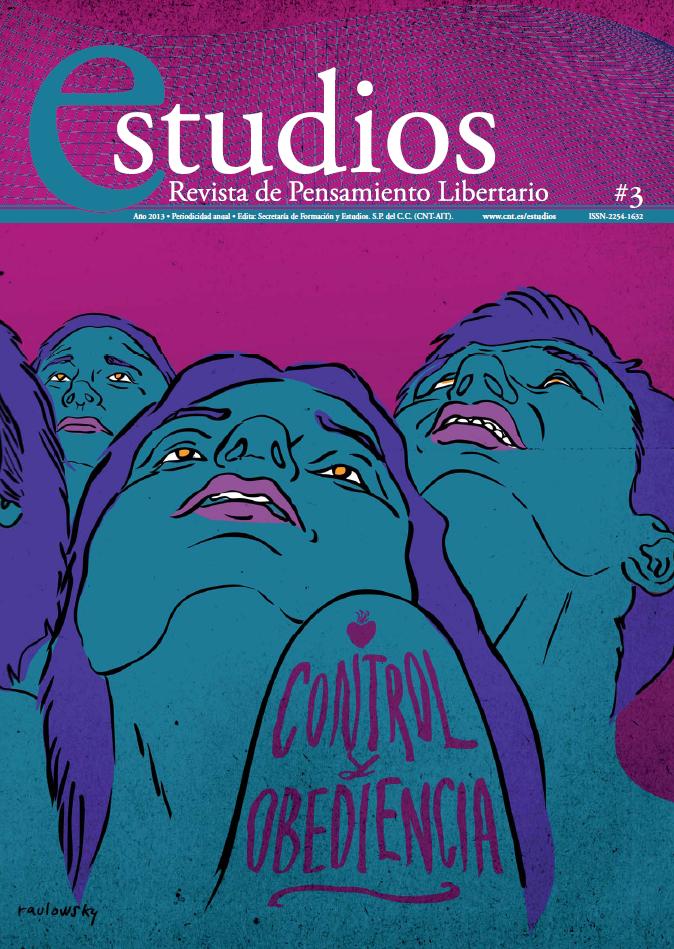 Nou número d'Estudios. Nº 3 / 2013 Control i obediència