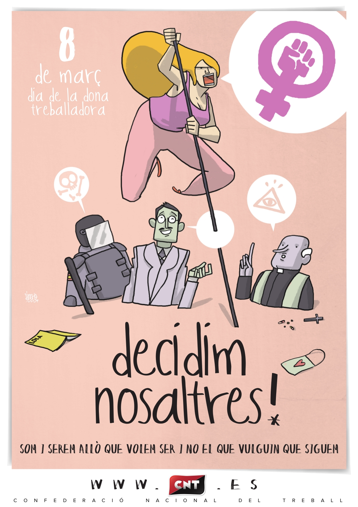 Manifest 8 de Març CNT: Res a celebrar, tot a guanyar