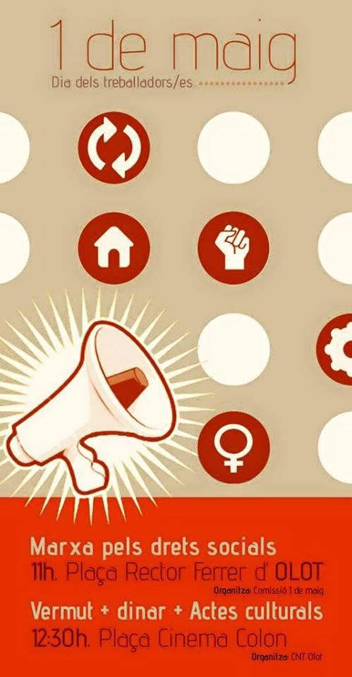 1 de Maig. Marxa pels drets socials