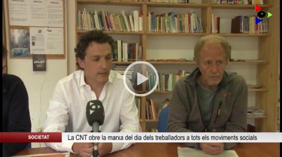 Roda de Premsa a Olot TV. Marxa pels Drets Socials [1 de Maig]
