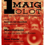 Acte unitari pel Primer de Maig a Olot