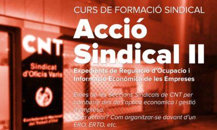 NOU CURS DE FORMACIÓ SINDICAL
