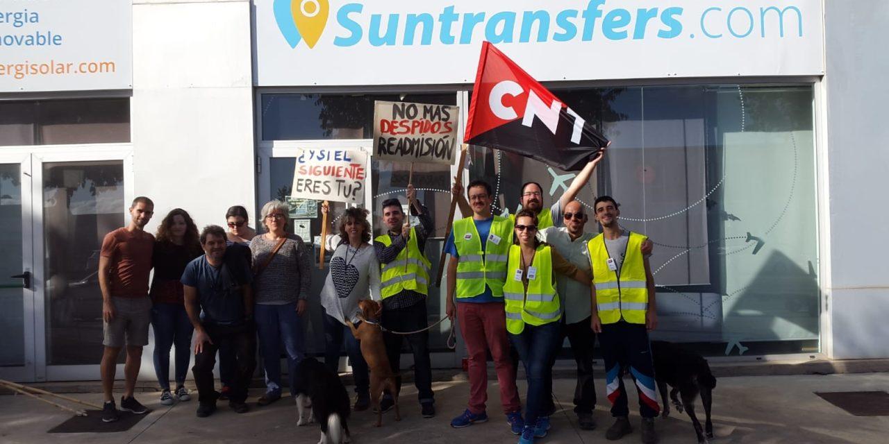 La sección sindical de la CNT en la empresa Suntransfers de Torroella de Montgrí inicia una huelga indefinida