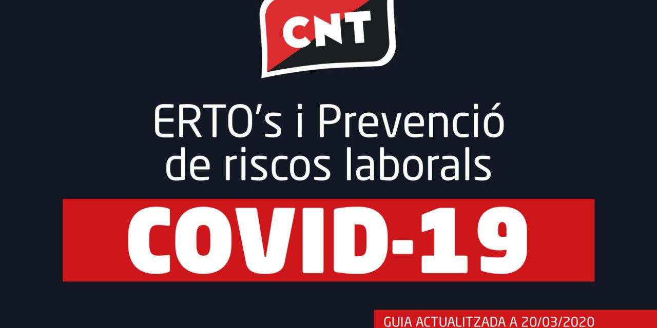 GUIA SOBRE ERTO's I PREVENCIÓ DE RISCOS LABORALS [20/03/2020]