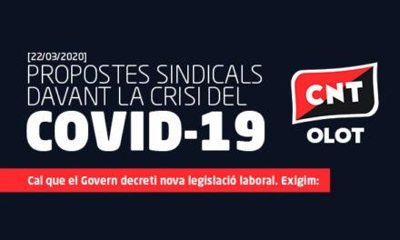 PROPOSTES SINDICALS DAVANT LA CRISI DEL COVID-19 [22/03/2020]