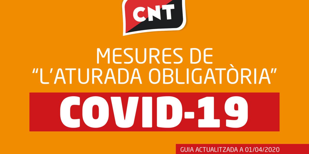 """GUIA SOBRE LES MESURES DE """"L'ATURADA OBLIGATÒRIA"""" [01/04/2020]"""