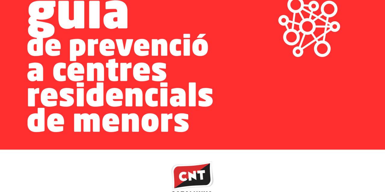 GUIA DE PREVENCIÓ A CENTRES RESIDENCIALS DE MENORS [03/04/2020]