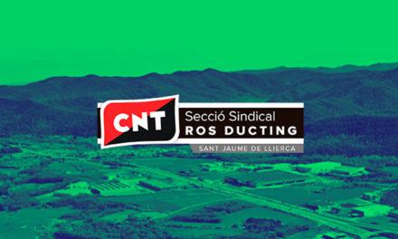 NOVA SECCIÓ SINDICAL DE CNT OLOT A ROS DUCTING